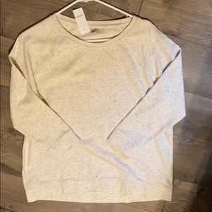 3/4 length sweatshirt